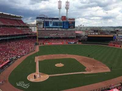Great American Ball Park, secção: 427, fila: A, lugar: 1