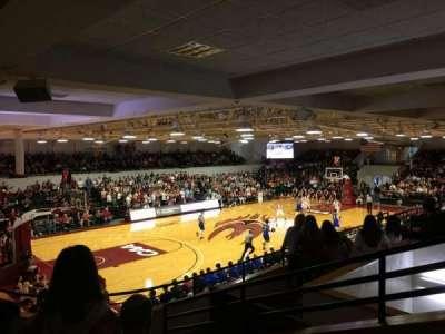 Alumni Gym (Elon University), secção: 210, fila: E, lugar: 1