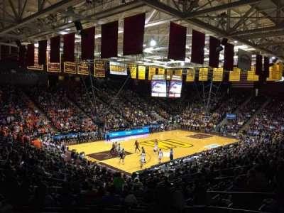 Winthrop Coliseum, secção: 119, fila: U, lugar: 8
