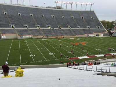 Lane Stadium, secção: 204, fila: VV, lugar: 26