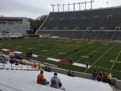 Lane Stadium, secção: 16, fila: CC, lugar: 5