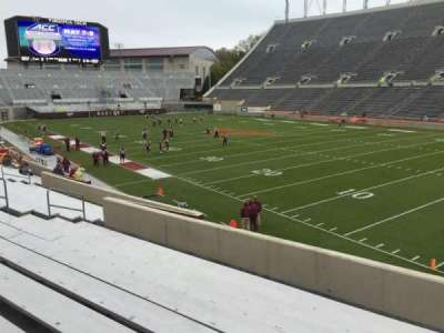 Lane Stadium, secção: 20, fila: X, lugar: 11