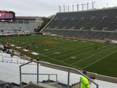Lane Stadium, secção: 20, fila: Rr, lugar: 4