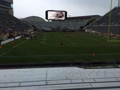 Lane Stadium, secção: 104, fila: R, lugar: 16