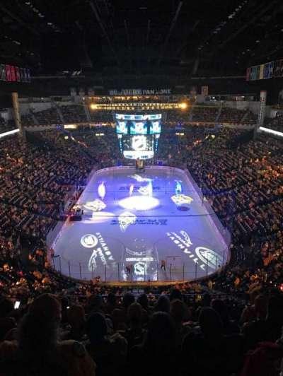 Bridgestone Arena, secção: 301, fila: H, lugar: 11