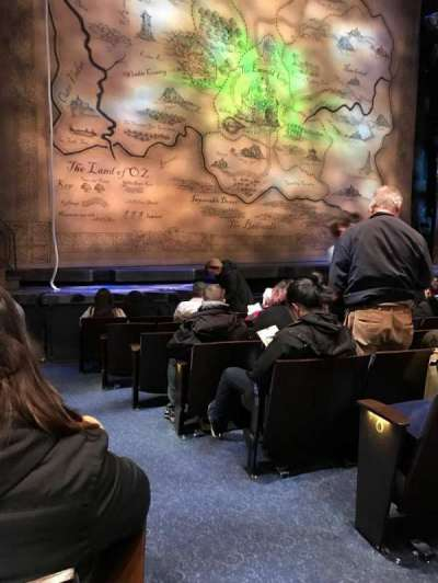 Gershwin Theatre, secção: Orchestra L, fila: D, lugar: 1