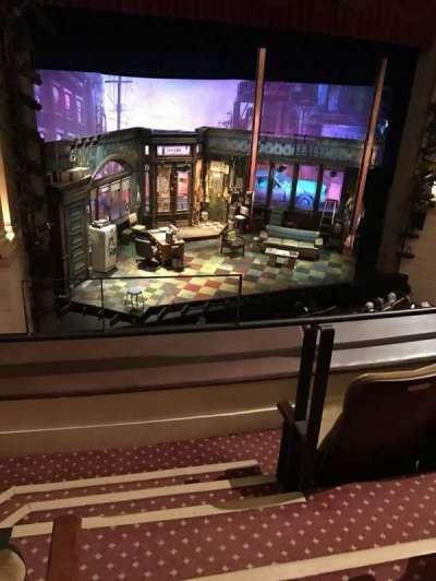 Samuel J. Friedman Theatre, secção: Mezzanine, fila: A, lugar: 1