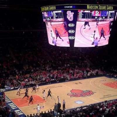 Madison Square Garden, secção: 209, fila: 6, lugar: 1