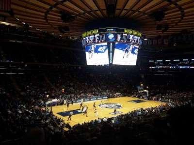 Madison Square Garden, secção: 115, fila: 20, lugar: 1