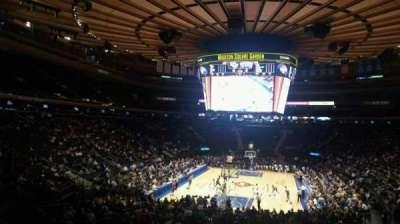 Madison Square Garden, secção: 103, fila: 20, lugar: 22
