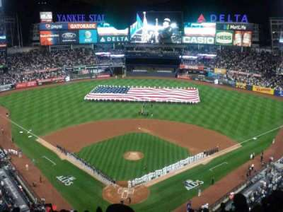 Yankee Stadium, secção: 420B, fila: 13, lugar: 1
