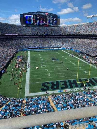 Bank of America Stadium, secção: 530, fila: WC, lugar: 14