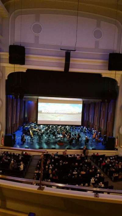 Bass Performance Hall, secção: Mezzanine Center, fila: C (3rd row), lugar: 2