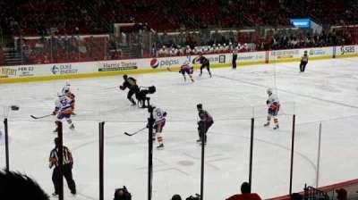 PNC Arena, secção: 123, fila: r, lugar: 8