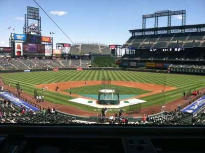 Coors Field secção Press Box