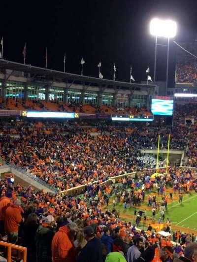 Memorial Stadium, Clemson secção UG