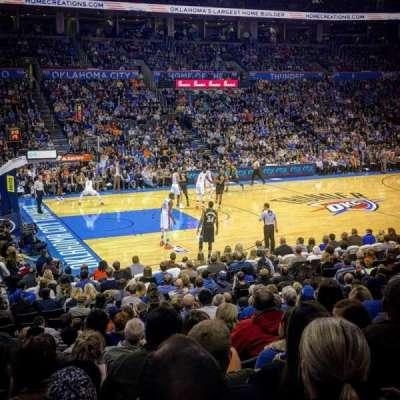 Chesapeake Energy Arena, secção: 107, fila: N, lugar: 16