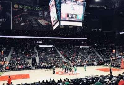 Philips Arena, secção: 116, fila: M, lugar: 7