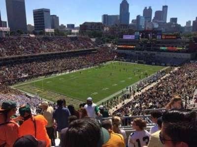 Bobby Dodd Stadium, secção: 210, fila: 17, lugar: 14