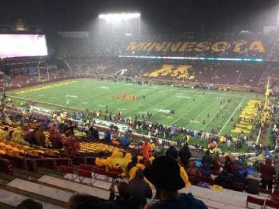 TCF Bank Stadium, secção: 236, fila: 22, lugar: 14
