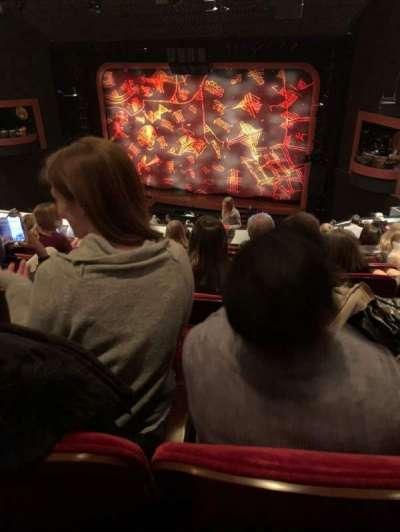Minskoff Theatre, secção: Mezzanine, fila: G, lugar: 148