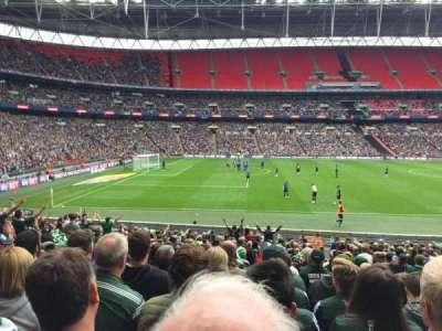 Wembley Stadium, secção: 103, fila: 25, lugar: 29