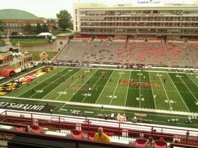 Maryland Stadium, secção: 206, fila: o, lugar: 14