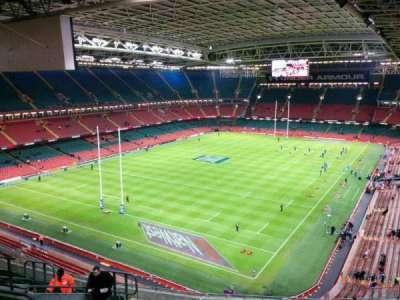 Principality Stadium, secção: u16, fila: 18, lugar: 12