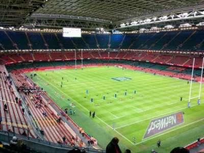 Principality Stadium, secção: U3, fila: 11, lugar: 15