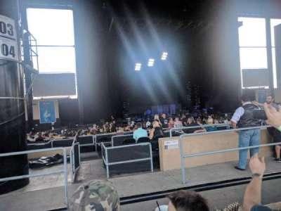 Hollywood Casino Amphitheatre (Tinley Park), secção: 205, fila: MM, lugar: 34