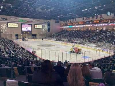 Orleans Arena, secção: 112, fila: N, lugar: 14