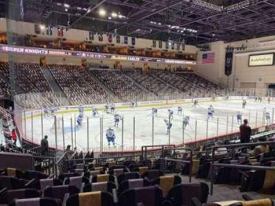 Orleans Arena, secção: 107, fila: H, lugar: 3