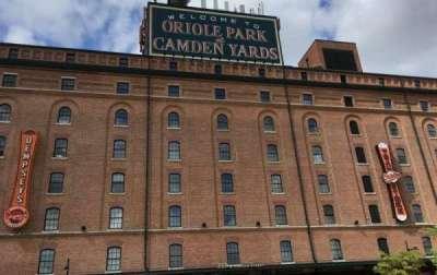 Oriole Park at Camden Yards, secção: WAREHOUSE, fila: EXTERIOR