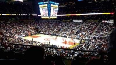 Philips Arena, secção: 209, fila: C, lugar: 1