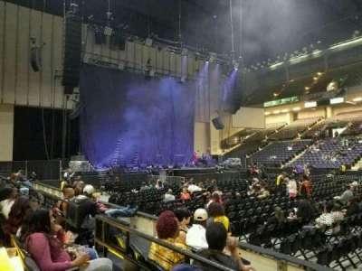 Royal Farms Arena, secção: 109, fila: B, lugar: 7