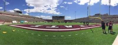 Aggie Memorial Stadium, secção: O, fila: 1, lugar: 1