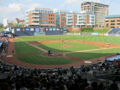 Durham Bulls Athletic Park, secção: Press box