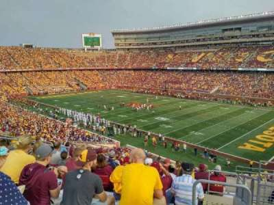 TCF Bank Stadium, secção: 205, fila: 11, lugar: 2
