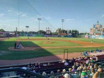 Whitaker Bank Ballpark, secção: 204, fila: 5, lugar: 1