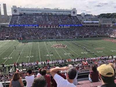 Alumni Stadium, secção: QQ, fila: 7, lugar: 18