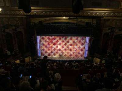 Brooks Atkinson Theatre, secção: Rear Mezzanine RC, fila: L, lugar: 116