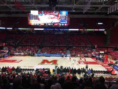 Xfinity Center (Maryland), secção: 114, fila: 11, lugar: 5