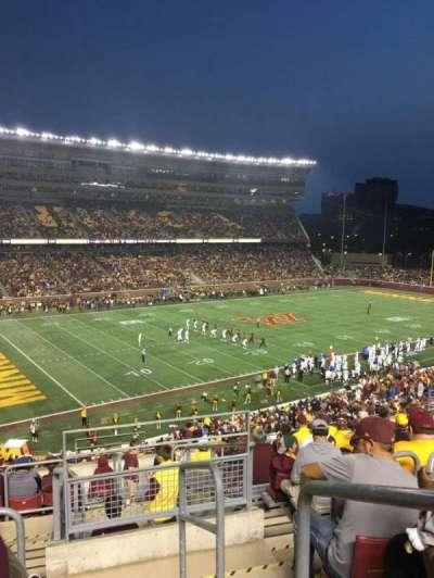 TCF Bank Stadium, secção: 216, fila: 11, lugar: 1