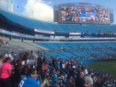 Bank of America Stadium, secção: 112, fila: 20, lugar: 21