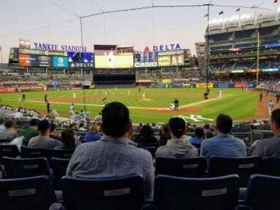 Yankee Stadium, secção: 121a, fila: 7, lugar: 4