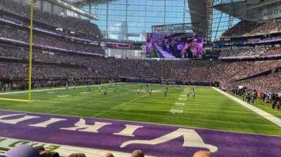 U.S. Bank Stadium, secção: 118, fila: 8, lugar: 15