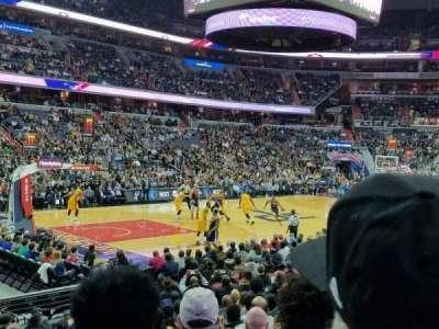 Capital One Arena, secção: 109, fila: N, lugar: 1