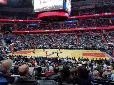Capital One Arena, secção: 101, fila: Q, lugar: 4