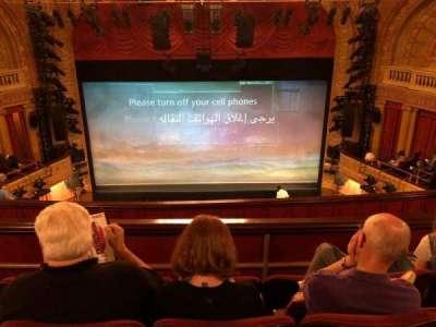 Ethel Barrymore Theatre secção Rear Mezzanine C