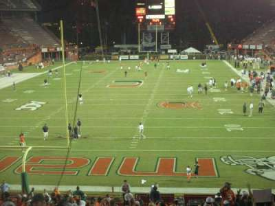 Miami Orange Bowl secção West End Zone